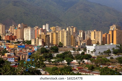 CARACAS, VENEZUELA-MAY 10: Skyline of Caracas on May 10,2013. Venezuela's President announced a new decree to limit monthly rents for commercial properties in a bid to reduce costs passed to consumers
