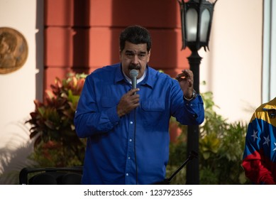 Caracas/Venezuela. 11/22/18: The president of Venezuela, Nicolás Maduro, participates in an event at the Government Palace in Caracas.