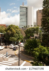 Caracas/Venezuela-January 07th, 2017: Main street in Chacao many  of the city's shopping malls are located within Chacao's borders. The municipality has become a financial center