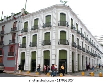 Caracas/Venezuela-January 15, 2017: Traditional Architecture, Historic Monastery Building of the Leon de Oro Hotel, Downtown Caracas, Historic Centre, Venezuela