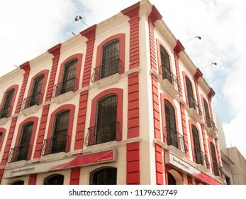 Caracas/Venezuela-January 17, 2017: Patrimonial building Old Monastery Hotel Leon de Oro, downtown Caracas, Venezuela