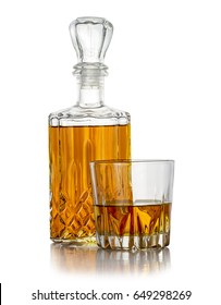 Carafe of good brandy  with a glass