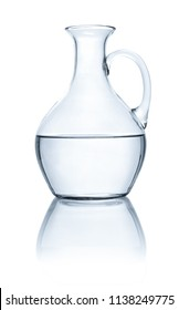 Carafe with water on a white background