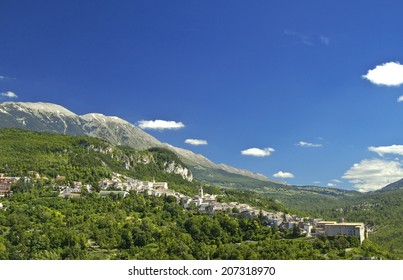Caramanico Terme is a small touristic town among Majella Mounts, Abruzzo region, Italy