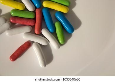 Caramel colored capsules
