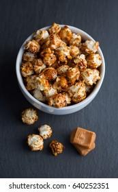 Caramel covered popcorn