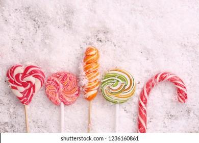 caramel on the snow