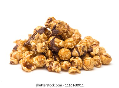 Caramel Popcorn Drizzled with Chocolate