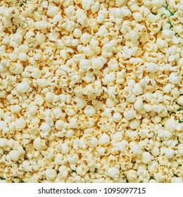caramel popcorn texture pattern. minimal flat lay