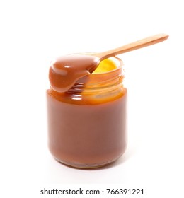 caramel sauce isolated