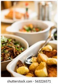 Caramelised Roast Potatoes Sunday lunch