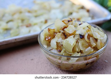 caramelized onions in a bowl