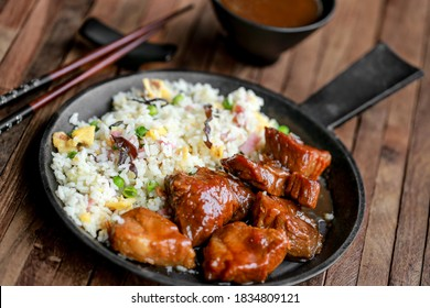 caramelized pork with cantonese rice