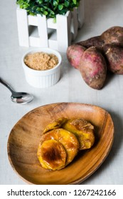 caramelized sweet potato or also known as kamotecue.  Favorite snacks of Filipino people