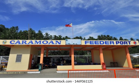 Caramoan, Camarines Sur/PH - May 10, 2011: Caramoan Feeder Port, port of entry to the mainland of Caramoan, Camarines Sur, Philippines