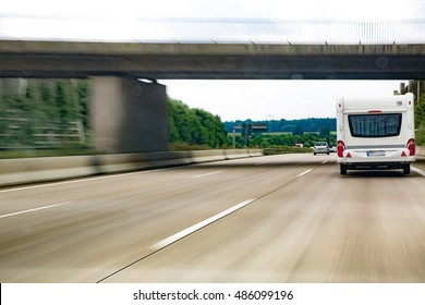 Caranvan on highway