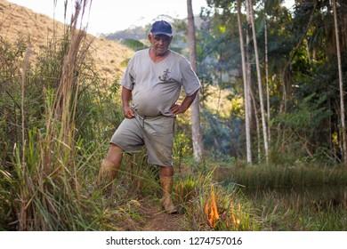 Caratinga / Minas Gerais / Brazil / October 24, 2018 Man versus nature, the presence of fire and the resistance of nature
