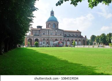 Caravaggio, Bergamo, Lombardy / Italy - September 30 2012: Sanctuary of Caravaggio.