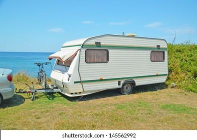 caravan bike sea holidays