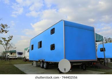 It's a caravan in the campsite/caravan