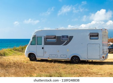 caravan holidays by the sea in the summer europe