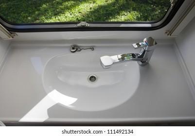 Caravan Interior Travel Trailer Mobile Home Bathroom Sink