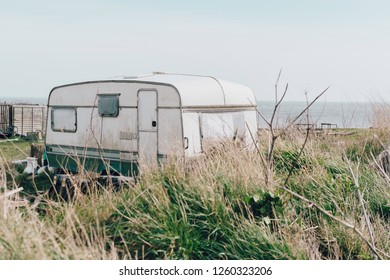 A caravan in the nature