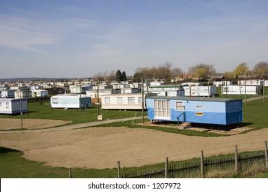 A caravan park on a sunny day.