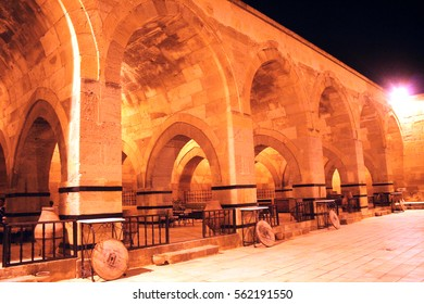 caravansary of Sarihan at night, Cappadocia, Turkey