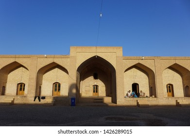 Caravanserai, Kashan, Iran - October 2017 : Morning sunrise at a caravanserai near Kashan, Iran.