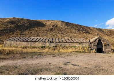 Caravanserai on Selim pass in the mountains of Armenia
