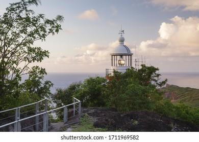 Caravelle Lighthouse on the Presqu'Ile de la Caravell, Martinique.