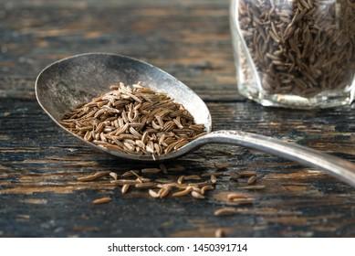 Caraway Seeds on Vintage Spoon