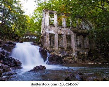 The Carbide-Wilson Ruins and Waterfall in Gatineau Park