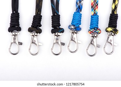 carbines on the rope. carabiner for keys