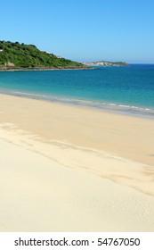 Carbis bay beach in Cornwall UK.
