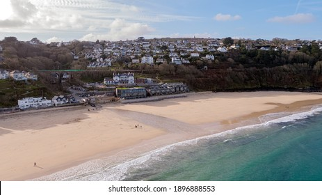 Carbis Bay in Cornwall where the G7 Summit will be taking place in June - Shutterstock ID 1896888553