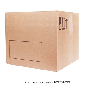 Carboard Box isolated on the white background