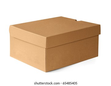 Carboard Box isolated on white, clipping path included