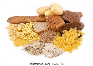 carbohydrate food isolated with potato