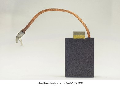 Carbon brush for AC Traction Motor use on a white background