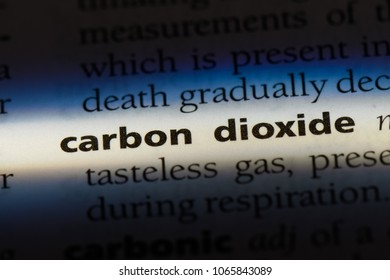 carbon dioxide word in a dictionary. carbon dioxide concept.