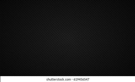 Carbon fiber. Geometric grid background. Modern dark abstract seamless texture.