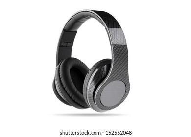 Carbon Fiber headphone with gray center