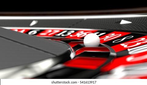 carbon fiber roulette 3d rendering selective focus on ball