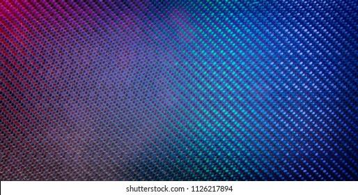 carbon fibre reflection colors