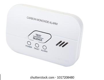 Carbon monoxide alarm for safe sleep on white