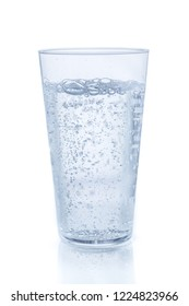Carbonated water on white background