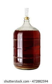 Carboy of Fermenting Homebrew Beer