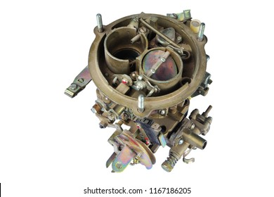 carburetor for automobile. isolated on white with clipping path